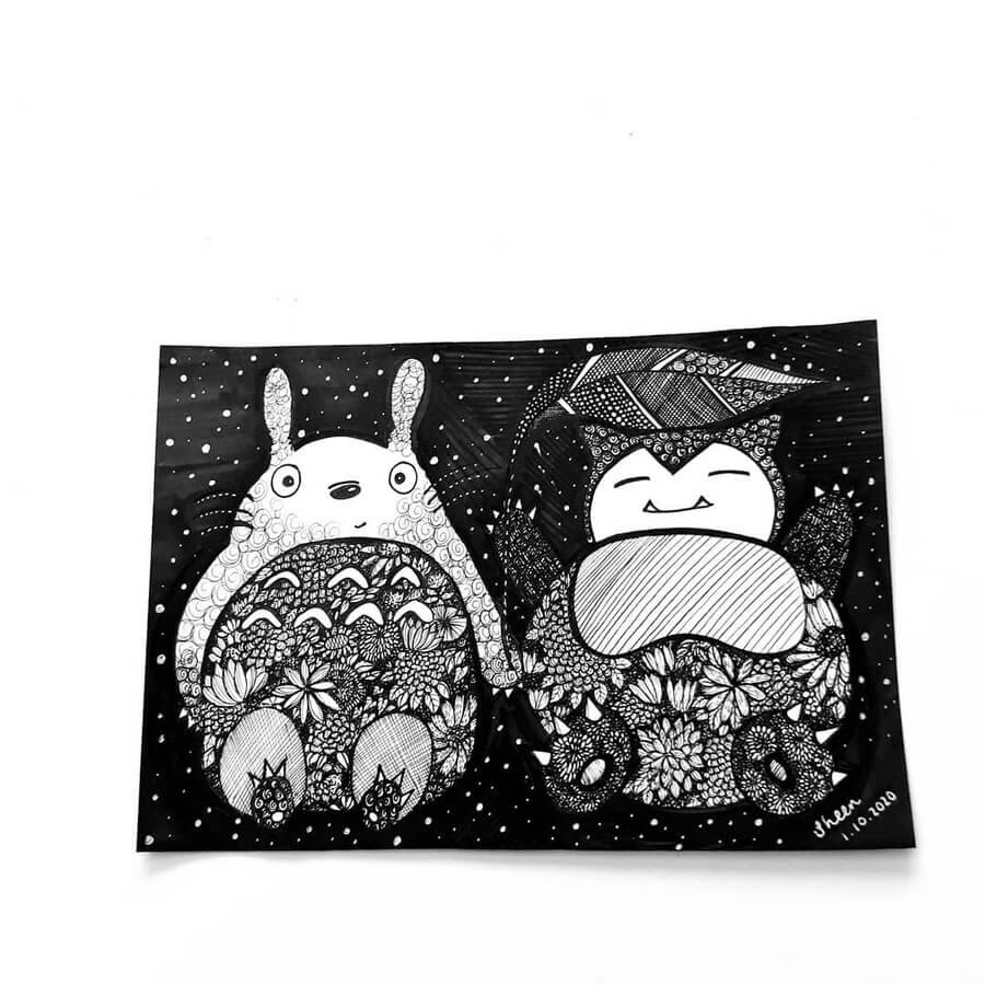 07-Totoro-and-snorlax-Sheen-www-designstack-co
