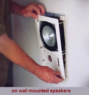 On Wall mounted Load Speakers