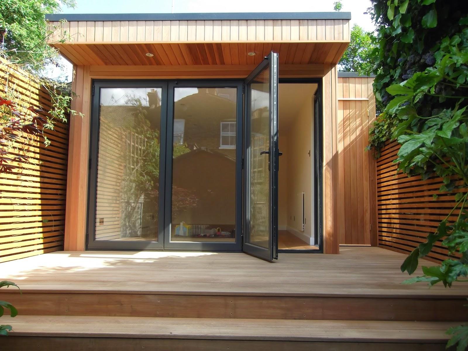 Office in my garden for Garden decking north london