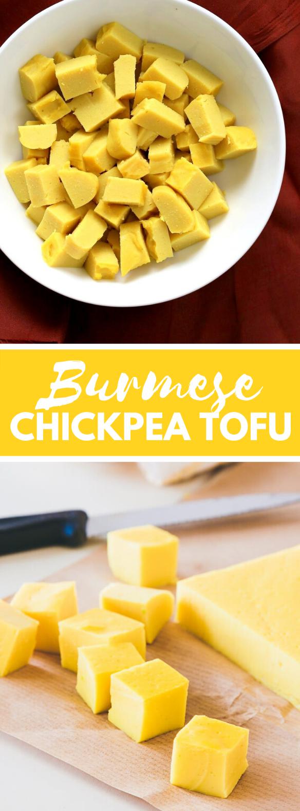 Burmese Chickpea Tofu recipe {vegan + dairy free + gluten free} #homemade #vegetarian