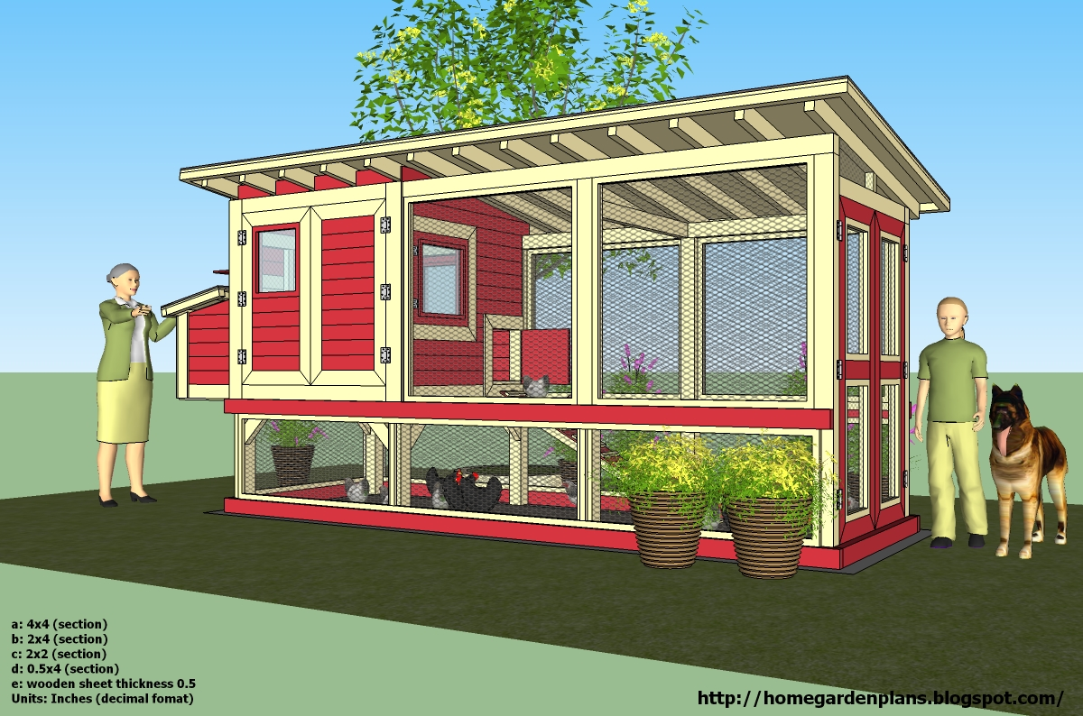 home garden plans: M101 - Chicken Coop Plans Construction ...