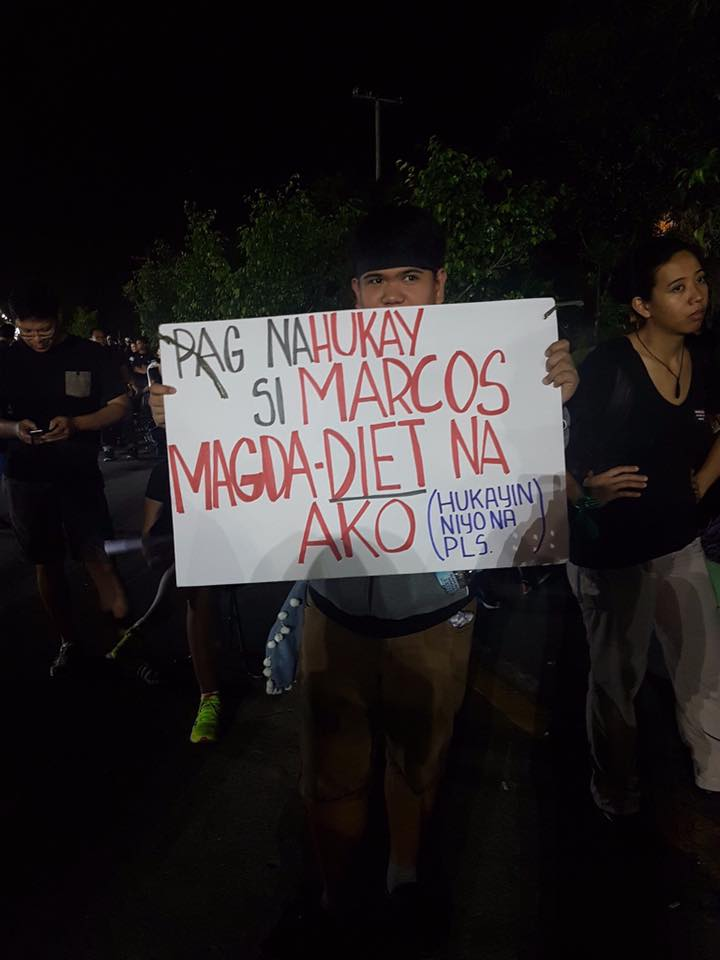 no to marcos protest