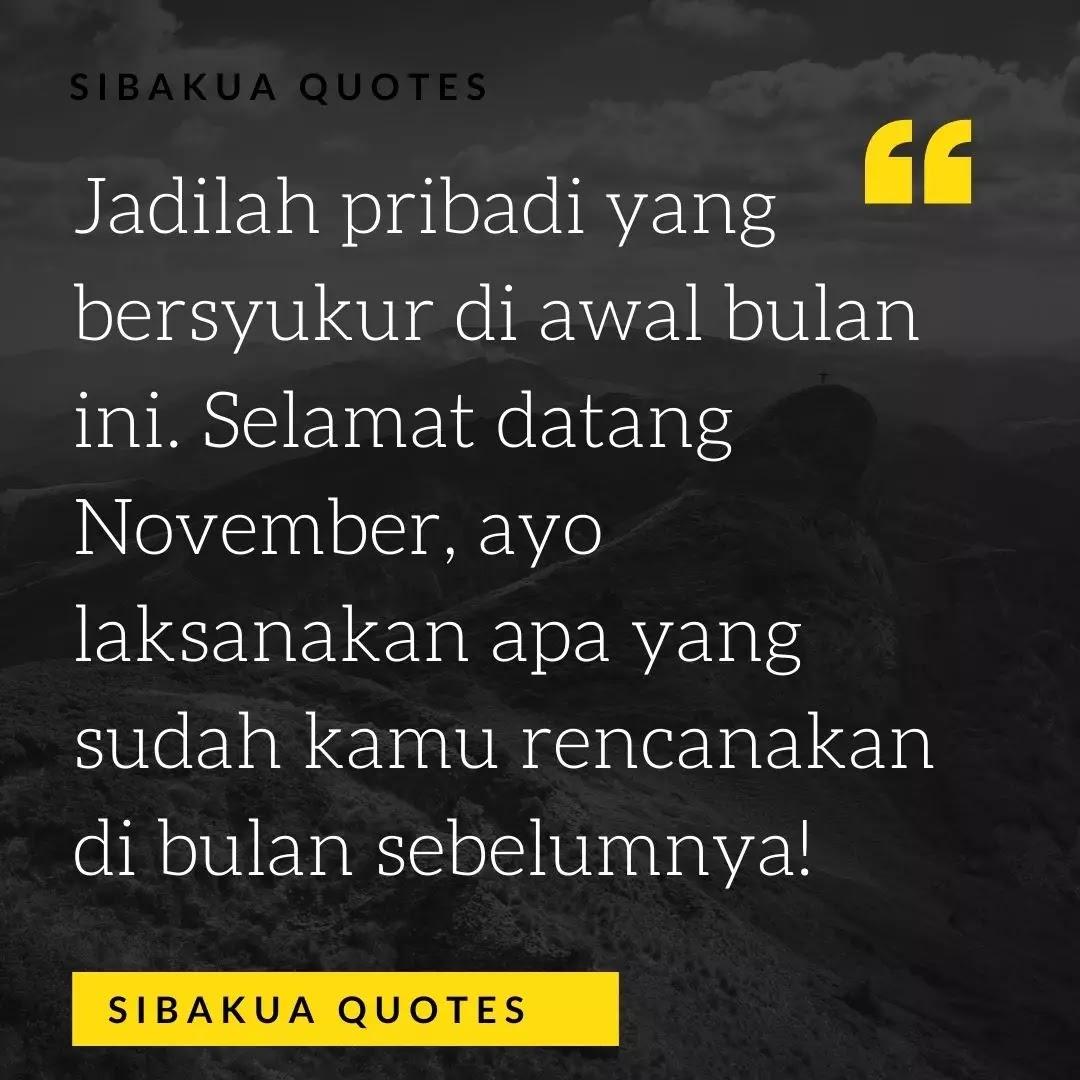 101 Kata Ucapan Bulan November Keren Buat Caption Sibakua
