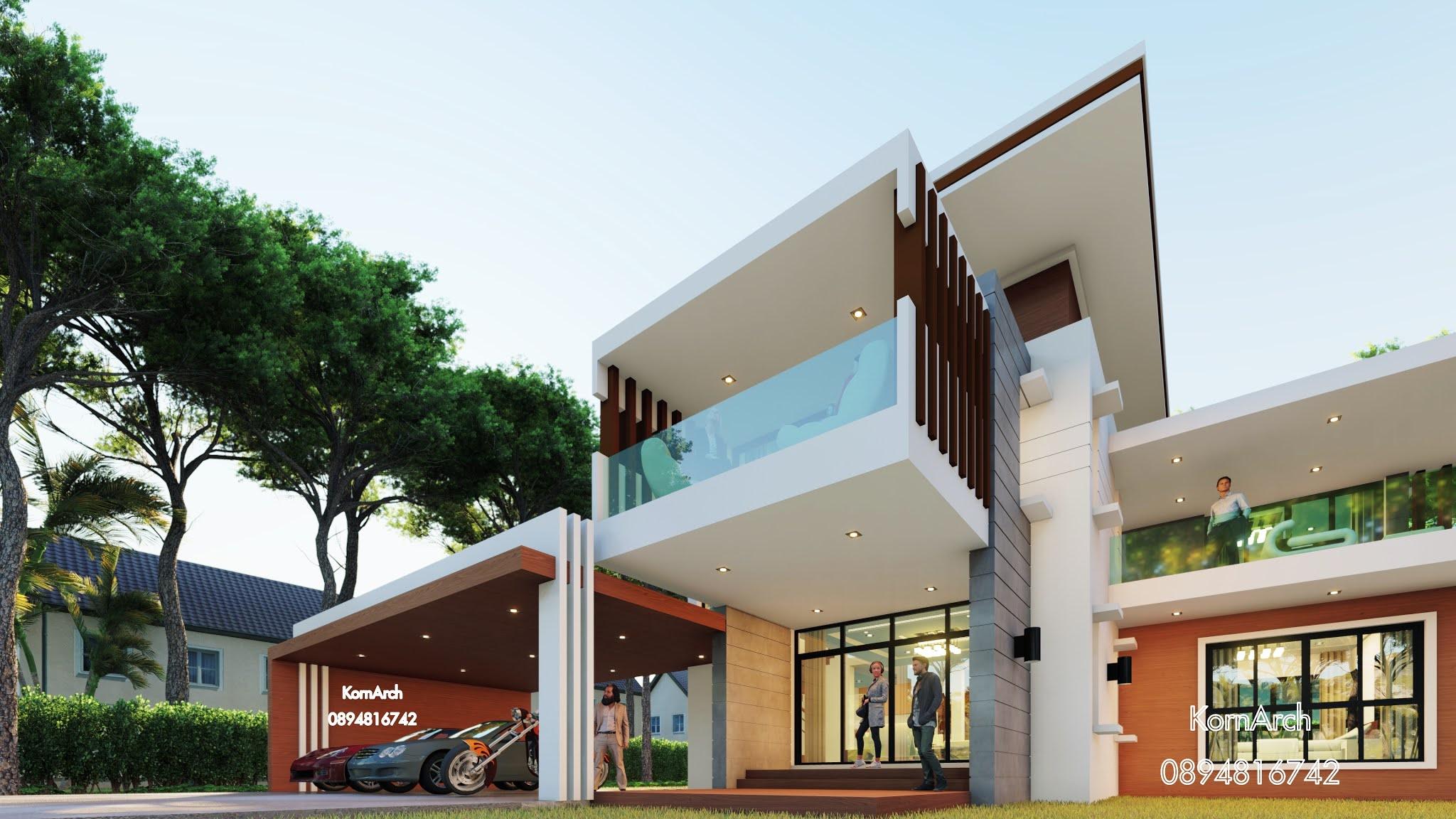 แบบบ้าน2ชั้น เจ้าของอาคารคุณนิรัตน์ ชัยวิชิต  สถานที่ก่อสร้าง อ.ชัยบาดาล จ.ลพบุรี
