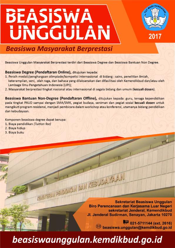 essay beasiswa unggulan 2017