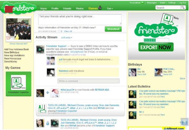 Aplikasi Chat Friendster