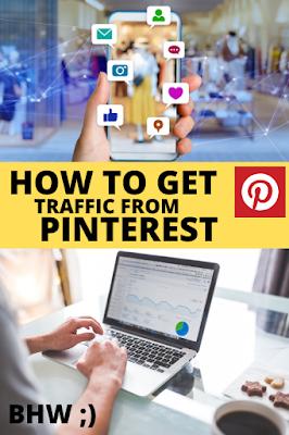 Cara mendapatkan trafik blog dari pinterest