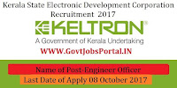 Kerala State Electronic Development Corporation Recruitment 2017– Engineer