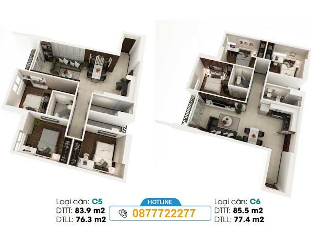 thiết kế căn hộ LDG River thủ đức