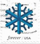 Selo Floco de neve azul