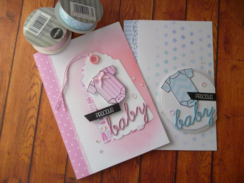 handcraftedhelen two cards onesie stamp