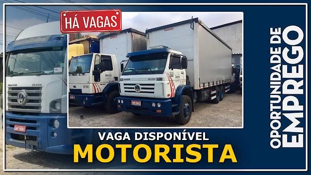 Zorzin Logística abre vagas para Motorista Truck