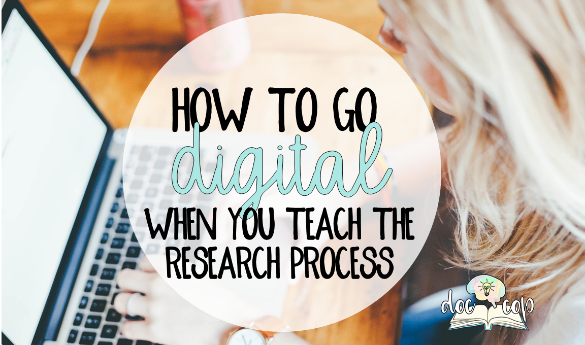 From topic discovery to grading, going digital when you teach the research process is the way to go! In this blog post, learn how to teach the research process from start, topic discovery, to finish, grading, all with digital tools.