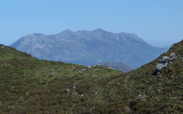 Sierra del Sueve sobre El Camín Real del Sellón