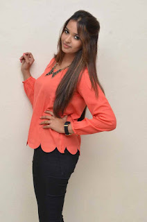 Actress Poojitha Pictures in Jeans at Deepika Padukone Movie Press Meet  0004