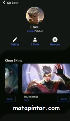Zolaxis Patcher APK V1.18 Unlock All Skin Mobile Legends Update Version