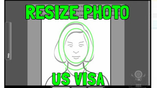 Resize photo for US visa photo tool cropping
