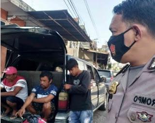 Patroli Siang Hari, Kapolsek Alla Pantau Tempat Permandian Di Desa Matua