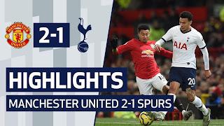 Manchester United 2 - 1 Tottenham premier league highlight