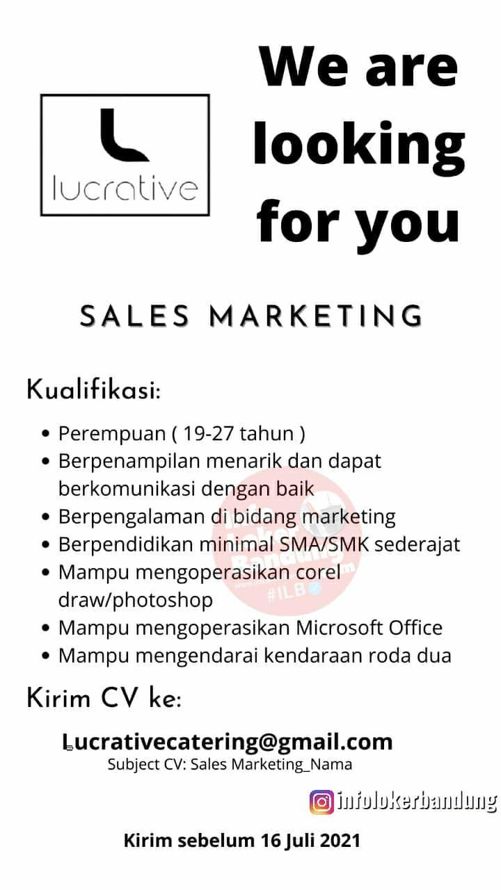 Lowongan Kerja Sales Marketing Lucrative Bandung Juli 2021