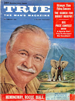 Hemingway on the cover of True