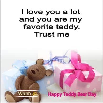 Teddy Bear Day Messages for Friends Hindi