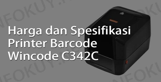 harga dan spesifikasi printer barcode wincode c342c