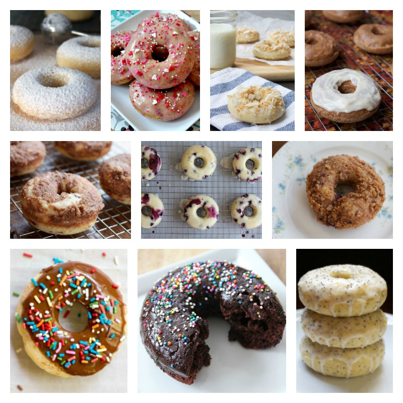Baked Donut Recipe Roundup || A Less Processed Life
