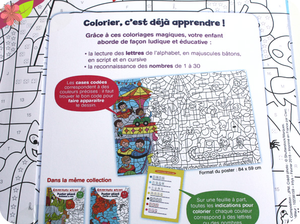 Coloriages malins - poster géant - éditions Nathan
