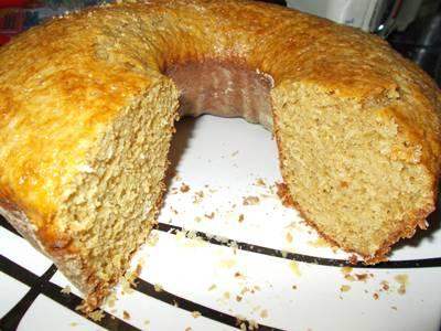 Receita de bolo de coco com açúcar mascavo