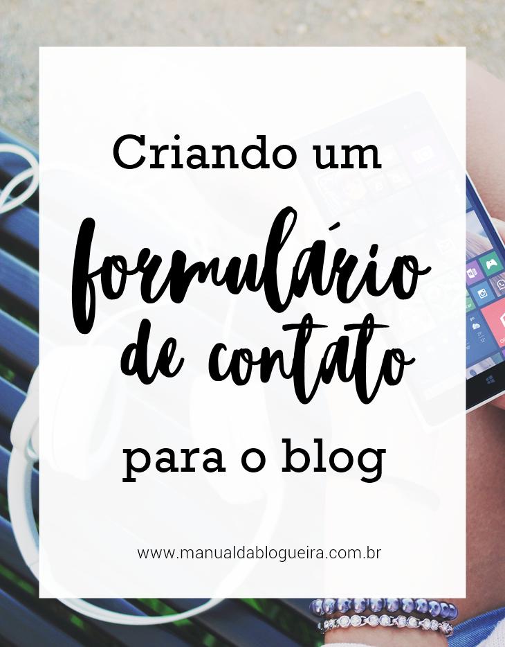 CRIANDO UM FORMULÁRIO DE CONTATO
