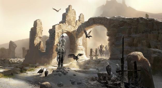 Greek Village Scene 3d Wallpaper White Peter Popken Illustrator Quot Prince Of Persia The Sands Of