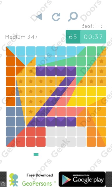 Cheats, Walkthrough for Blocks and Shapes Medium Level 347