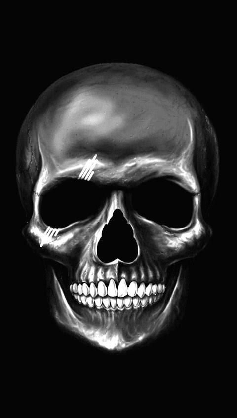 Hình Nền Điện Thoại Đẹp Chất Sọ Đầu Của Cái Chết