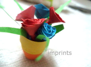 how to make paper-quill flower pot