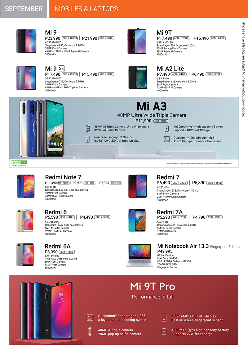 Xiaomi Product Catalog Page 2