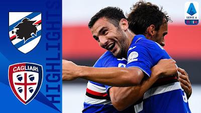 Video Sampdoria 3-0 Cagliari: Vòng 33, VĐQG Italia