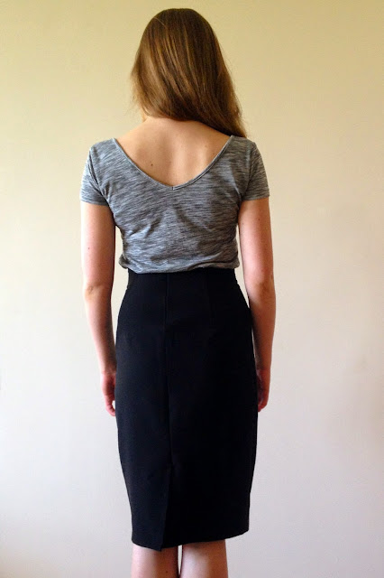 Diary of a Chain Stitcher: Black Stretch Crepe Ultimate Pencil Skirt from Sew Over It