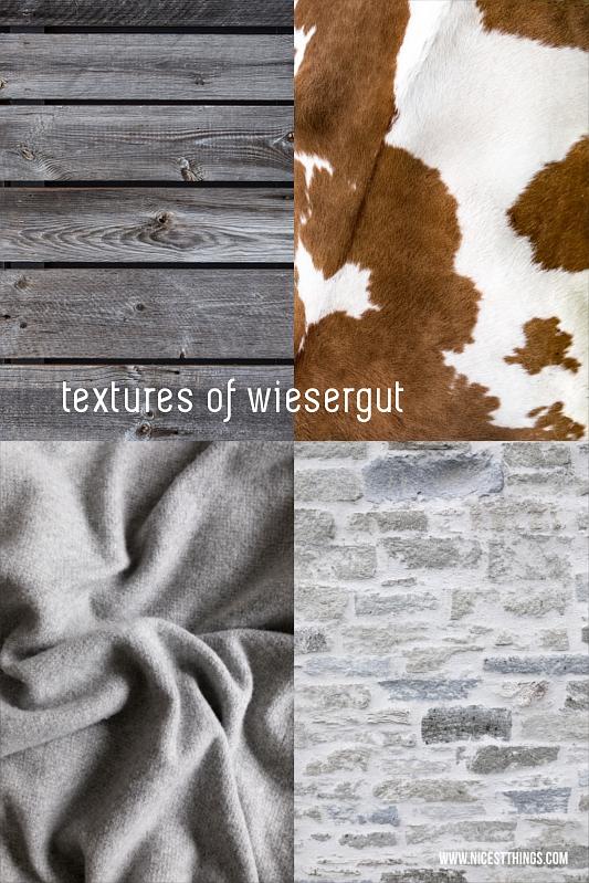 Materialien und Texturen im Designhotel Wiedergut