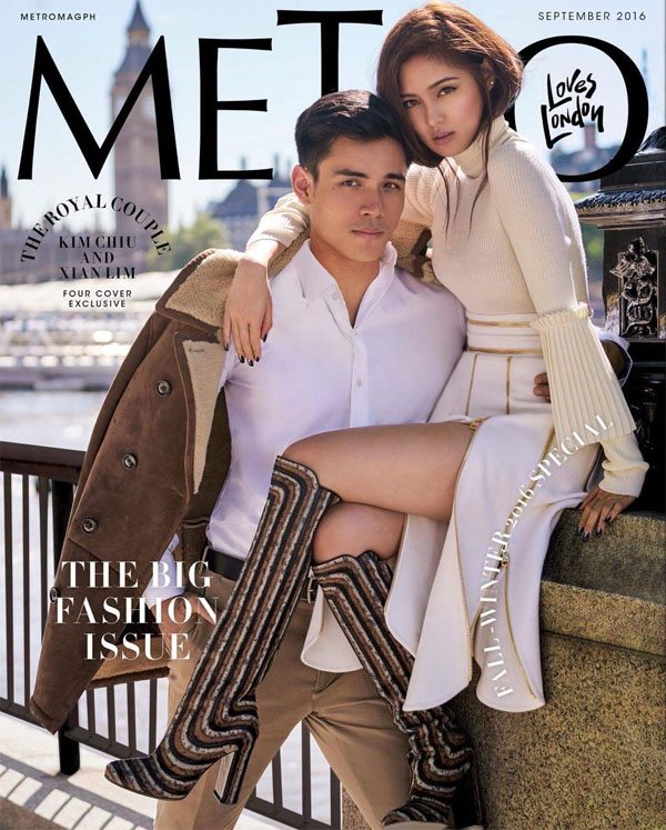 Kim Chiu and Xian Lim In the Cover of Metro Magazine's Big Fashion Issue