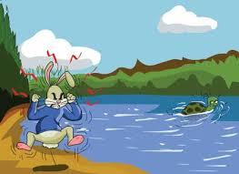 """कछुआ और खरगोश"""" कहानी एक नये अन्दाज़ में,Hare and Tortoise hindi story"""