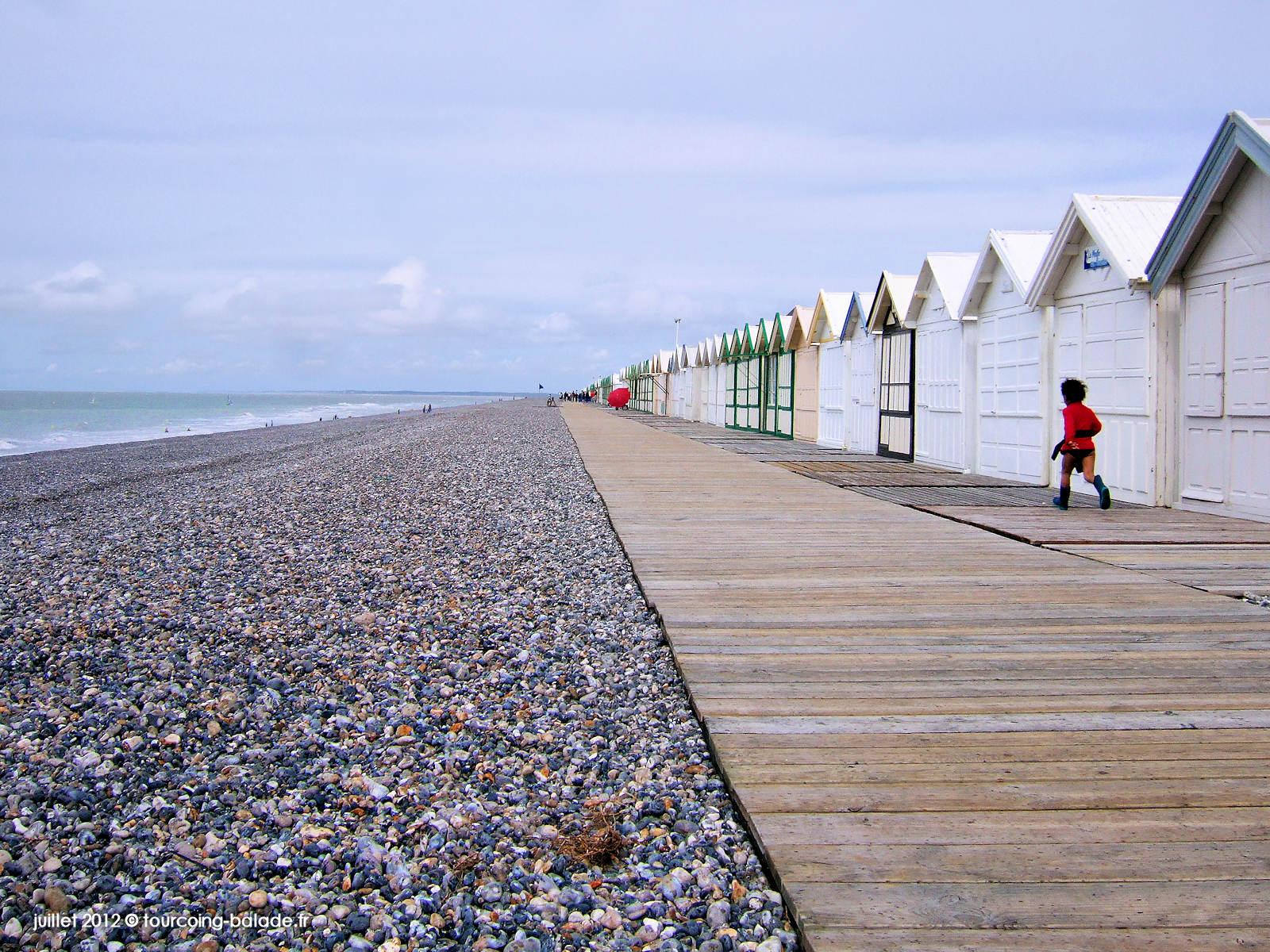 Cayeux-sur-mer - Chemin de planches et cabines de bain - 2012