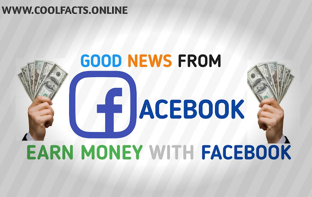 GooD news from Facebook Earn money with Us.