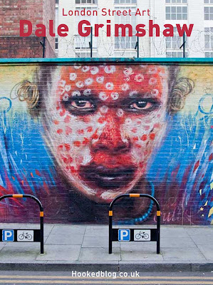 English Street Artist Dale Grimshaw's Wonderland Mural on Clifton Street, London. #streetart #Murals #Hookedblog