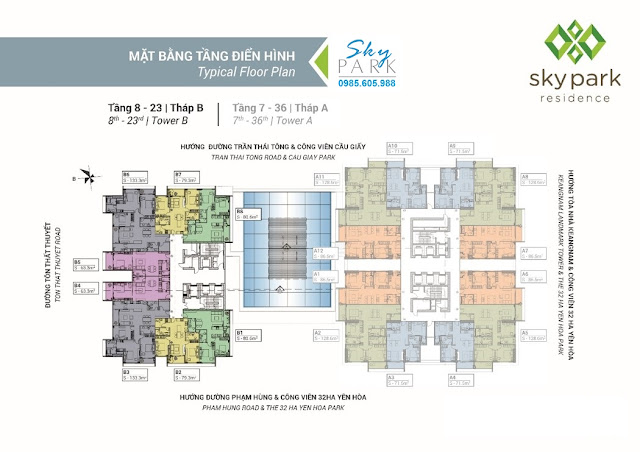 dự án Sky Park Residence  số 3 Tôn Thất Thuyết
