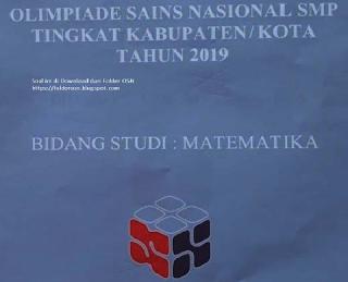 Pembahasan Soal OSN Matematika Tingkat Kota/Kabupaten Tahun 2019