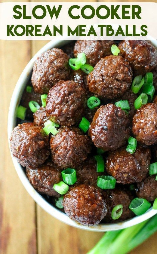 Slow Cooker Korean Meatballs Recipes