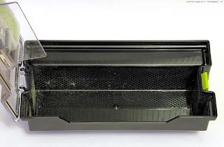 Polvere raccolta da LG Hombot Square dopo Deebot CR110