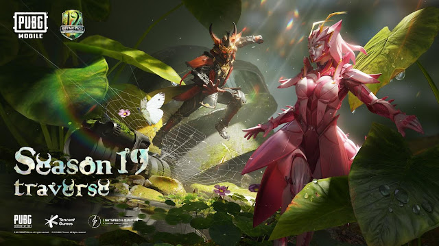 Consta imagem do jogo PUBG mobile com insetos com os quais os personagens podem lutar, da Season 19 - Traverse, em posição de luta