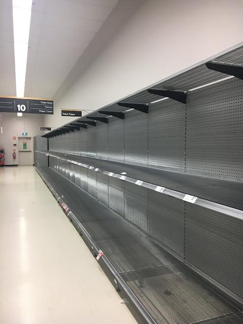 Empty Shelves in Sydney Supermarkets in Corona Virus Panic